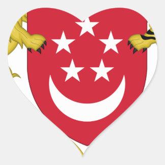 Adesivo Coração Brasão do emblema do 新加坡国徽 de Singapore