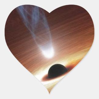 Adesivo Coração buraco negro