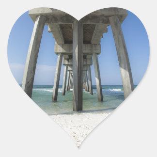 Adesivo Coração Cais da praia da Cidade do Panamá