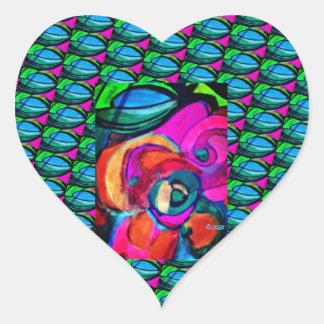 Adesivo Coração Carregue-o e sorria-