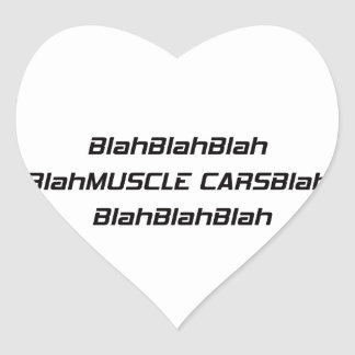 Adesivo Coração Carro blá do músculo blá