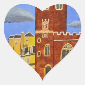 Adesivo Coração Casa de Tudor em Exeter