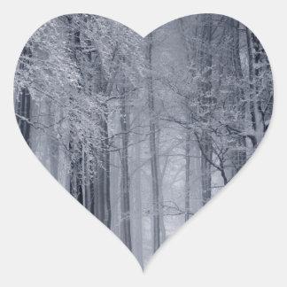 Adesivo Coração Cena do inverno