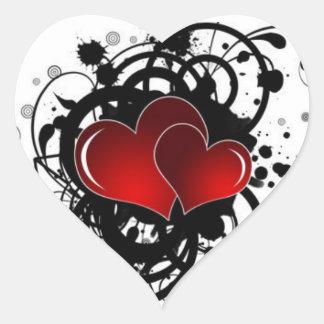 Adesivo Coração Cintilar dos posters do coração moderno
