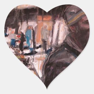 Adesivo Coração cliente de Dublin da rua de moore