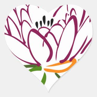 Adesivo Coração Coração de Lotus