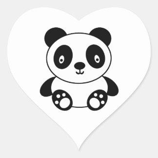 Adesivo Coração Desenhos animados bonitos da panda