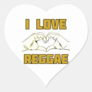 Adesivo Coração design da reggae