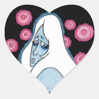 Adesivo Coração Diamante azul