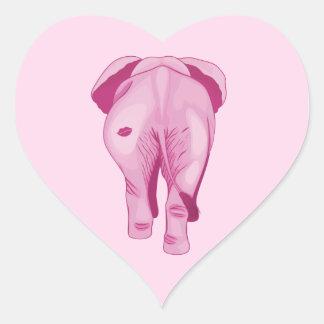 Adesivo Coração Elefante cor-de-rosa SWAK
