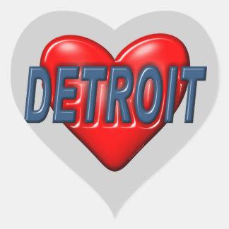 Adesivo Coração Eu amo Detroit