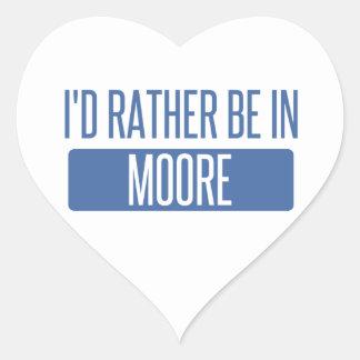 Adesivo Coração Eu preferencialmente estaria em Moore