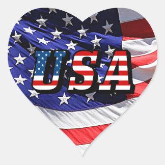 Adesivo Coração EUA - Bandeira americana