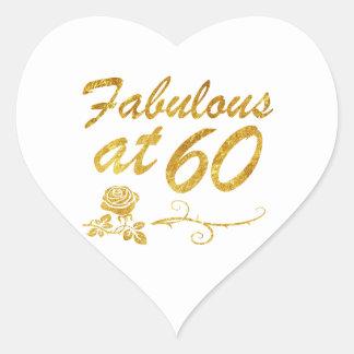 Adesivo Coração Fabuloso em 60 anos