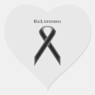 Adesivo Coração Fita padrão preta