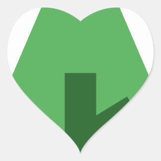 Adesivo Coração Forrest