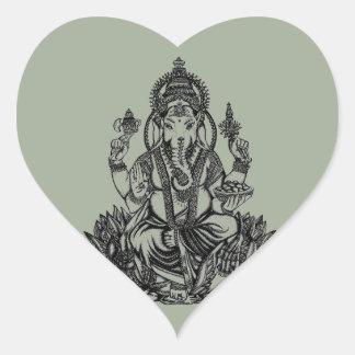 Adesivo Coração Ilustração de Ganesh
