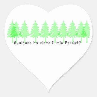 Adesivo Coração Italiano-Forrest