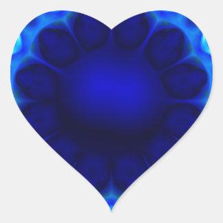 Adesivo Coração laser azul #3