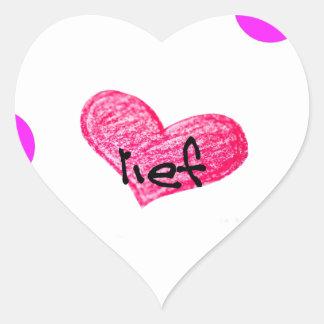 Adesivo Coração Língua do holandês sul-africano do design do amor