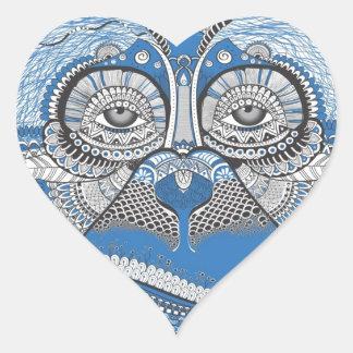 Adesivo Coração Macaco - universal