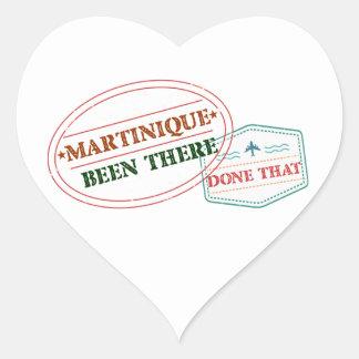 Adesivo Coração Martinica feito lá isso