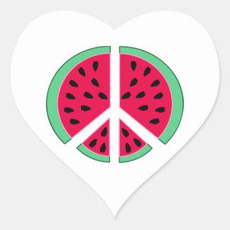 Adesivo Coração Melancia da paz