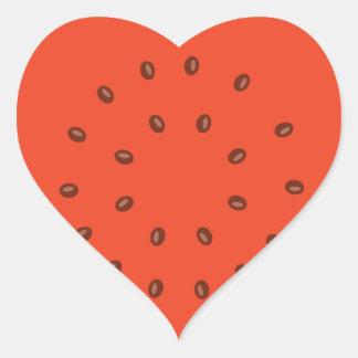 Adesivo Coração melancia para dentro