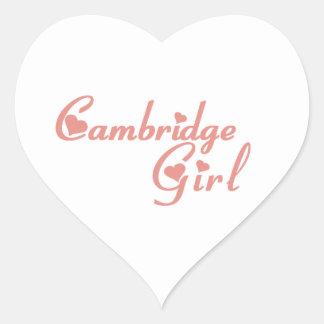Adesivo Coração Menina de Cambridge