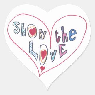 Adesivo Coração Mostre o amor