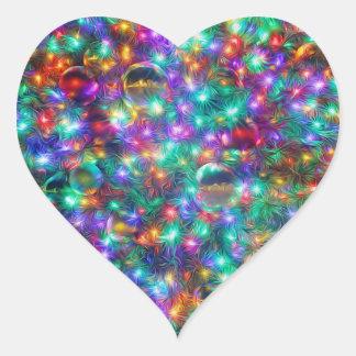 Adesivo Coração Natal luxuoso