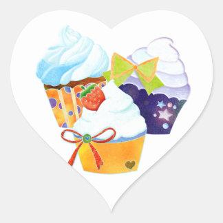 Adesivo Coração Negócio da padaria do céu do cupcake