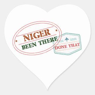 Adesivo Coração Niger feito lá isso