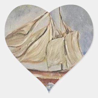 Adesivo Coração No mar