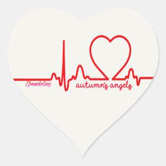 Adesivo Coração O coração do apoio dos anjos do outono emite a