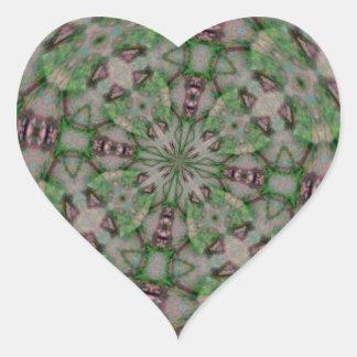 Adesivo Coração O Seashell Kladescope projetou a mercadoria