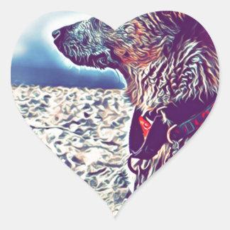 Adesivo Coração Opal o vagabundo Heeler da praia