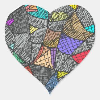 Adesivo Coração Opal preto