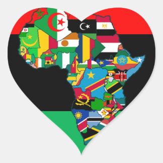 Adesivo Coração Pan-Africano eu sou mais do que o design do teto