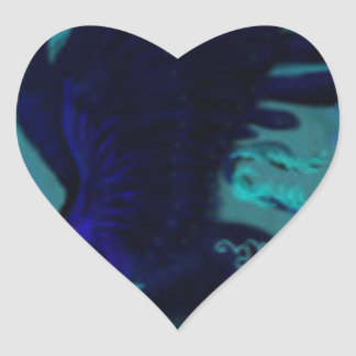 Adesivo Coração Pantera preta voada