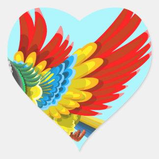 Adesivo Coração papagaio