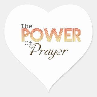 Adesivo Coração Poder da oração