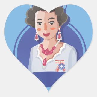 Adesivo Coração rainha elizabeth 2
