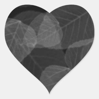 Adesivo Coração Raio X da folha