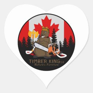 Adesivo Coração Rei Registro Mobília Manitoba da madeira