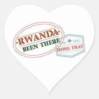 Adesivo Coração Rwanda feito lá isso