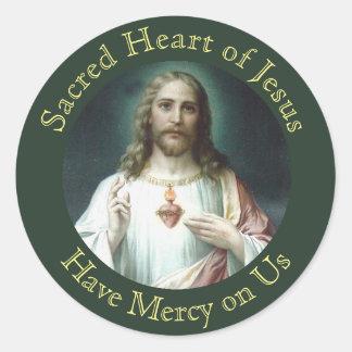 Adesivo Coração sagrado da oração de Jesus