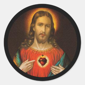 Adesivo Coração sagrado de Jesus c1899 Alemanha