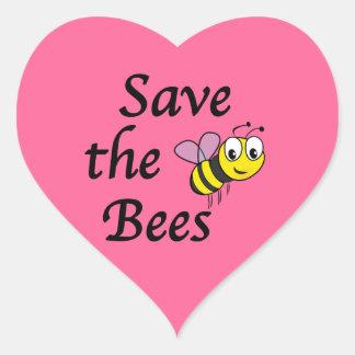 Adesivo Coração Salvar as abelhas