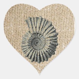 Adesivo Coração seashell chique litoral da praia francesa de